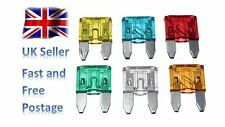 30x Mini Blade Fuses 5A 10A 15A 20A 25A 30A Car Auto Set FREE UK Postage