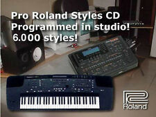 6000 estilos CD de estilo para E500 E300 E600 KR-570 KR-770 KR-1070 Roland Collection