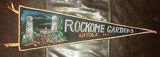 Vintage Souvenir Pennant - Rockome Gardens Argola Illinois - Horse & Wagon
