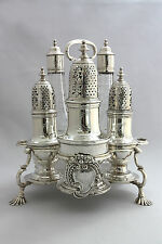 George II Silver  Warwick Cruet Set - London 1743- Samuel Wood - 45oz