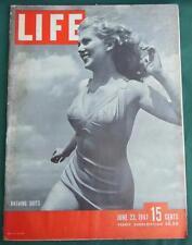 LIFE MAGAZINE JUNE 23 1947 BATHING SUITS JOAN CRAWFORD CHICAGO TRIBUNE ADS