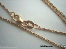 "16"" Italian Solid 14K Rose / Gold Chain 1.7g Cable Link"