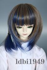 """1/3 8-9"""" BJD Doll Wig for Blythe LUTS Pullip SD DD LUTS Short Gradient Hair"""