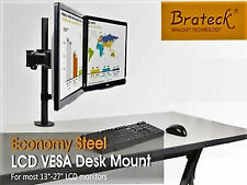 "Brateck DUAL-Arm Steel VESA Desk Mount for 13"" to 27"" Monitors - LDT07-C024"
