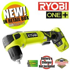 Ryobi P241 18-Volt ONE+ Cordless 3/8 in. Right Angle Drill (Tool Only) NEW