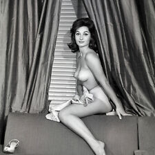 Elaine Paul 1960s nude Sitting on back of couch 8 x 8 Photograph