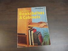 SUnset Book: How To Make Bookshelves & Cabinets  June 1978 PB