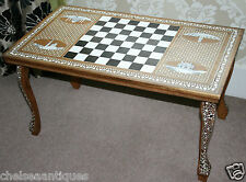1970s vintage liberty london coffee table/chess table nacre incrustation os