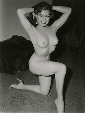 1960s Nude Pinup Floor posing on one knee  8 x 10 Photograph