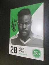 61055 Nzuzi Toko FC St. Gallen 16-17 original signierte Autogrammkarte