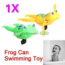 Cute Wind-Up Swimming Frog Pool Bath Luau Party Favors Play Toy for Kids Child
