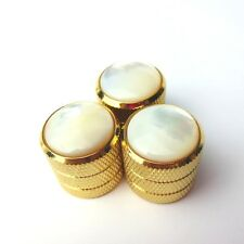 3 pcs Zinc Alloy And Shell Gold Electric Guitar bass Tone Volume Knob TM-01