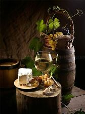 WINE GRAPES CHEESE CASK FOOD DRINK PHOTO ART PRINT POSTER PICTURE BMP1260A