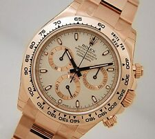 Rolex Cosmograph DAYTONA 116505 Mens Everose Gold Oyster Ivory Index Dial 40MM
