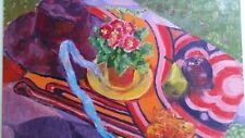 English School. Colourful painting on board of still life objects
