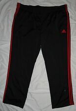 NEW! Adidas Climalite Pants Mens 4X 4XL Black/Scarlet Red NWT!