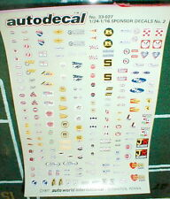 1977 Vintage Sponsor Decals for Slot Cars + Plastic Models 98 Pr 1/24-1/16 scale