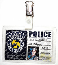 Resident Evil Game ID Badge - Jill Valentine STARS Police Cosplay Prop Halloween