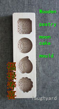 Chinese Tradition Moon Cake/Rice Cake  Wooden Molds Hardwood Carved Collectable