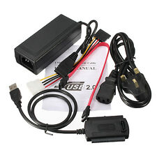 "Hard Drive Cable Power Supply Adapter USB 2.0 to 2.5/3.5"" SATA/IDE HDD Converter"