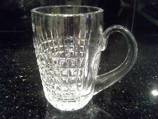 LEAD CRYSTAL BEER MUG - CUT GLASS, APPLIED HANDLE