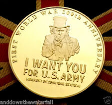 The Great World War I Gold Coin Art Military Recruitment Poster Navy Trench UK
