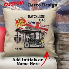 Personalised Matchless G45 Vintage Classic Motorbike Cushion Canvas Cover Gift