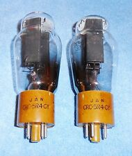 2 NOS RCA JAN CRC 5R4GY Vacuum Tubes - Hanging Filaments 1956 Rectifiers NICE!