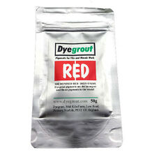 50 grams - Red Grout Pigment for Mosaics Cement Dye by Dyegrout