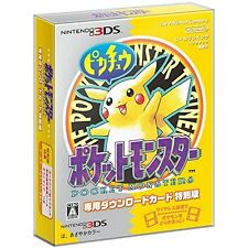 New Nintendo 3DS Pokemon Yellow Download Special Edition Included Map & Magnet