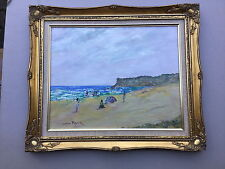 Donald Fraser Beach Scene  Acrylic   Framed painting