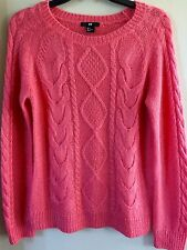 Ladies size Small S H&M peach sweater top shirt
