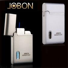 Jobon Cigarette Lighter Refillable Butane Gas Cigar Jet Torch Lighter With LED