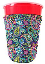 Coolie Junction Paisley Pattern Cute Solo Cup Coolie, Cozy Girly