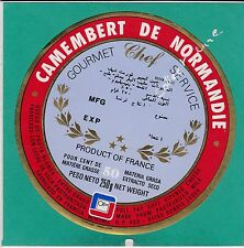 H62 FROMAGE CAMEMBERT DE NORMANDIE  CHEF