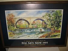 1995 Watercolor by Famous Bethlehem PA Artist Mary L Cummings, Hand Signed Print