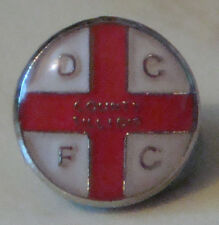 DERBY COUNTY & ENGLAND type badge Stud fitting in gilt 8mm x 8mm