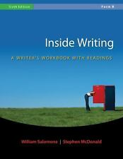 Inside Writing by William Salomone and Stephen McDonald (2008, Spiral, Workbook)
