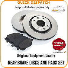 12498 REAR BRAKE DISCS AND PADS FOR PEUGEOT 206 CC 2.0 16V 1/2001-9/2001