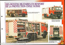 Fire engine Militaire / Protection Civil Rampf-Faba CH FICHE Pompier FIREFIGHTER
