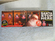 Light Up Santa Please Stop Here Window Sign Christmas display decoration