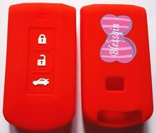 RED SILICONE CAR KEY COVER CASE for MITSUBISHI ASX LANCER SPORT OUTLANDER