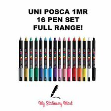 UNI POSCA MARKER PEN PC-1MR 16 Pen Set Paint Marker Poster 16 Colours FULL SET