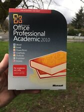MICROSOFT OFFICE PROFESSIONAL ACADEMIC 2010 32/64-BIT RETAIL BOX CD Key Yes