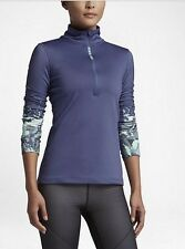 Women's Nike Pro Hyperwarm Half-Zip Long-Sleeved Training Top Size S 811090-508
