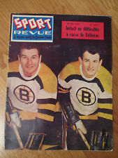 SPORT REVUE March 1960 Montreal Canadiens Magazine BRONCO HORVATH VIC STASIUK