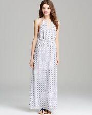 SZ M Joie Amaretta Silk Maxi Full Length Dress with Keyhole Halter NWT $398