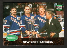 1991-92 Parkhurst Award Winner Insert--New York Rangers--Messier/Leetch/Gartner