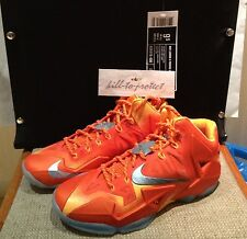 NIKE LEBRON XI 11 FORGING IRON Sz US 9.5 UK 8.5 Galaxy Big Bang Special Box 2013