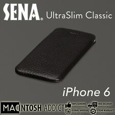 Sena UltraSlim Classic Genuine Artisan Leather Pouch Case For iPhone 7/6s BLACK